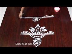 Very easy 2 friday border rangoli designs ll sides kolam designs ll simple border muggulu Rangoli Designs Latest, Rangoli Designs Flower, Rangoli Border Designs, Rangoli Designs Diwali, Rangoli Designs With Dots, Rangoli With Dots, Beautiful Rangoli Designs, Kolam Designs, Rangoli Borders