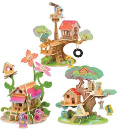 Woodland Puzzle Play Sets, set of 3. these are cool looking, love the bright festive colors.