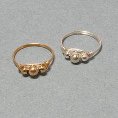 Gold or Silver Wire Wrapped Rings | Gemtwists - Jewelry on ArtFire $14.95