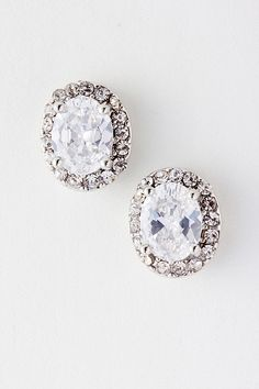 CZ Anna Earrings on Emma Stine Limited