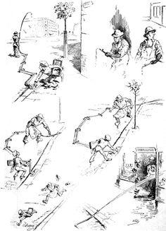 Uzès, « Arrosage public », Le Chat Noir, n° 182, 4 juillet 1885.