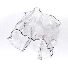 Crumpled Plastic Cuff Bracelet Transparent avant garde by arosha, $58.00