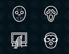 """Check out new work on my @Behance portfolio: """"Horror Movies Character Icons"""" http://on.be.net/1O2rwHT"""