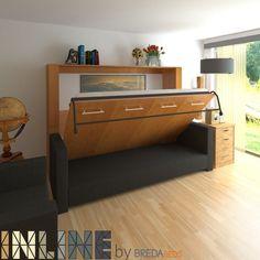 Horizontal InLine Murphy Bed and InLine Sofa #sofaideasbedroom