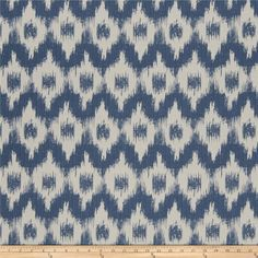 French General Flamme De France Woven Indigo from @fabricdotcom  This upholstery weight woven is perfect for bedding, drapery, upholstery and more! This fabric exceeds 15,000 double rubs.