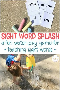 Need a fun, hands-on way to begin teaching sight words to your beginning readers? Sight Word Splash is a water play game to teach or review words.