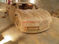 Replica Bugatti Veyron 1:1 Teak Holz