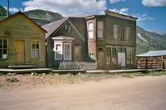 "ST. ELMO, COLORADO - The place used to be home to dance halls, a school, hotels, and even a telegraph office, but is now mostly picturesque-looking dilapidated wooden structures. However, you can shop in the general store in the summer, rent ATVs, and stay in one local ""semi-rustic"" cabin."
