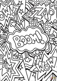 Zap Boom Wow coloring page | Free Printable Coloring Pages