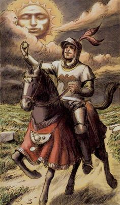 Knight of Coins - 2012 - Tarot of Ascension by Michele Penco
