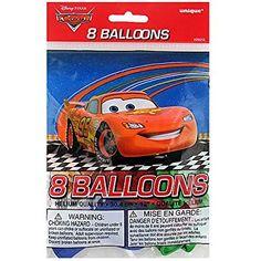 "12"" Latex Disney Cars Balloons, 8ct"