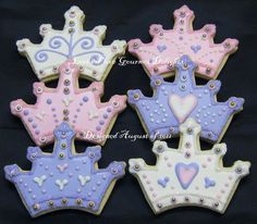 Perfect Crown Cookies!!! Bebe'!!! Perfect for a birthday party!!!