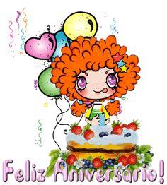 Imagem do aniversário com vela animada