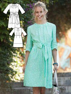 Tie Waist Dress 03/2016 #102A http://www.burdastyle.com/pattern_store/patterns/tie-waist-dress-032016?utm_source=burdastyle.com&utm_medium=referral&utm_campaign=bs-tta-bl-160215-SpringFeverCollection102A