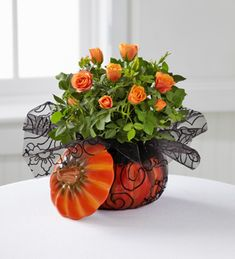 halloween floral arrangement idea