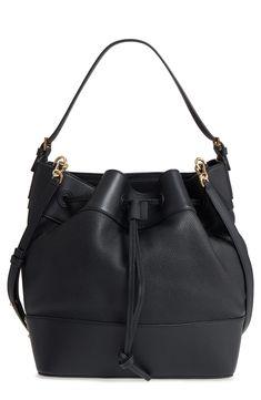 Midnight Leather Bucket Bag | Loewe #fashionfavorites #pencilandpaperco