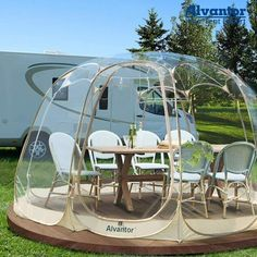 We are a family with a passion for tents and design. Founded in Southern California in 2011, Alvantor is a brand that specializes in the research and development of outdoor and household products. We design, source, market and sell tents all over the world. Our customers come from more than 100 countries and regions where millions of our products are used in our customers daily lives. Back Garden Design, Modern Garden Design, Patio Design, Backyard Patio, Backyard Landscaping, Garden Igloo, Bubble Tent, Screen House, Household Products