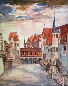 Innsbruck Castle Courtyard by Albrecht Dürer Home Decor Wall Decor Giclee Art Print Poster A4 A3 A2 Large Print FLAT RATE SHIPPING by vintagepostercompany on Etsy https://www.etsy.com/listing/231436218/innsbruck-castle-courtyard-by-albrecht