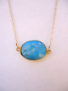 Turquoise Water Drop Necklace by WafflesandHoney on Etsy, $42.00 #WHJ