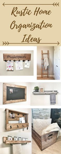 Organize your home with these rustic decor ideas. Farmhouse decor, rustic decor, country home decor, organization ideas, afflink