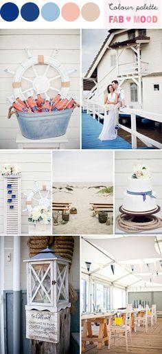 COLOR PALETTE nautical beach wedding, beach wedding ideas