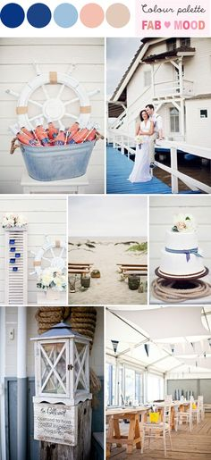 Nautical Beach Wedding | fabmood.com
