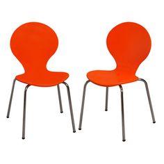 Gift Mark Kid's Desk Chair - Color: Orange (Set of 2)