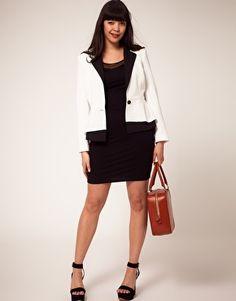 ASOS CURVE Exclusive Peplum Jacket #plus #size #fashion