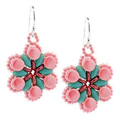 Berry Blossoms Earrings | Fusion Beads Inspiration Gallery