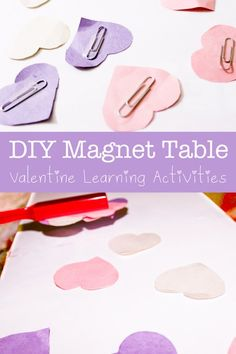 magnet activity with hearts