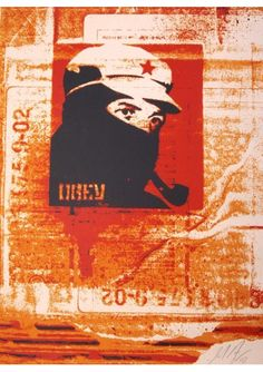 #shepardFairey #sérigraphie, #poster #streetart, #shepardfairyposter, #sergeantpaper #Serigraphie sur papier Edition limitee a 300ex, 46x61cm - numerotee et signee