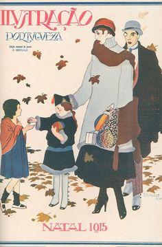 | Capa de revista, edição de Natal, 1915. | Capa de revista com ilustração de Stuart. in: Ilustração Portuguesa, n.º 513, 20 de Dezembro de 1915.