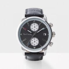 Men's Grey And Black 'Block' Chronograph Watch @PaulSmith #PaulSmith #Designer #Watches #DesignerWatches