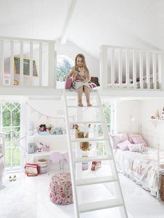 Cool kids room with loft