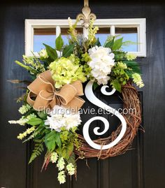NEW Spring Wreaths for Front Door Front Door by FleursDeLaVie
