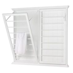 Home Decorators Collection Madison 46 in. W Fold-Down Wall Mounted Laundry Drying Rack in – The Home Depot Home Decorators Collection Madison 46 in. W Fold-Down Wall Mounted Laundry Drying Rack in White 5345500410 at The Home Depot – Mobile Laundry Drying, Laundry Mud Room, Diy Storage, Closet Storage, Laundry Room Storage, Tiny House Laundry, Drying Rack Laundry, Room Storage Diy, Rack Design