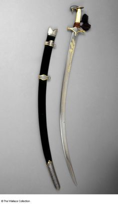 This object is currently being catalogued Swords And Daggers, Knives And Swords, Sword Reference, Damascus Sword, Indian Sword, Types Of Swords, Ninja Weapons, Medieval Weapons, Arm Armor