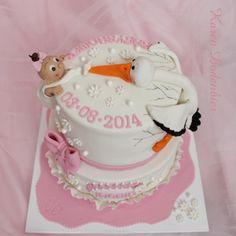 Baby Shower Crashing Stork! - Cake by Karen Dodenbier