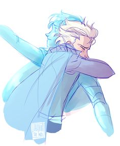 DUDE I'm not all into the gender-bent Frozen idea but THIS THIS IS ABSOLUTELY ADORABLE AND SWEET AND UGH I LOVE THIS ONE THOUGH