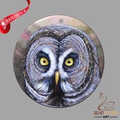 JEWELRY NECKLACE HAND PAINTED OWL SHELL PENDANT ZP30 01056 #ZL #PENDANT