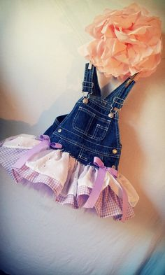 Pick'n Wild Blueberries Overall  Tutu  Skirt Tutu  by BabyFetch, $45.00