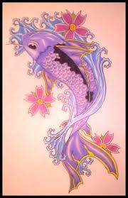 pretty purple koi tattoo