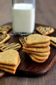 Kruche ciasteczka bezglutenowe Gluten Free Cookies, Gluten Free Recipes, Baking Recipes, Vegetarian Recipes, No Bake Desserts, Healthy Desserts, Healthy Recipes, Food And Drink, Yummy Food