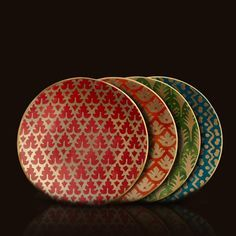 Fortuny's collaborated with L'Objet to produce these gorgeous canape plates reminiscent of old-world Venetian textiles.