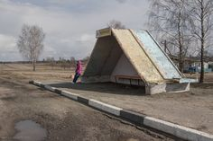 ... as many of the Belarusian bus stops are triangular in design.