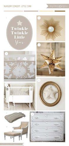 Twinkle Twinkle Little Star Nursery Inspirations...I like the gold star light