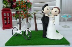 Too cute! Hey, I found this really awesome Etsy listing at https://www.etsy.com/listing/130479851/wedding-cake-topper-wedding-clay-couple