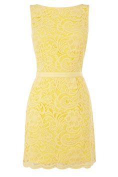 lace yellow dress