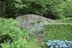 Veddw, Wales, stone wall; Gardenista