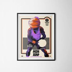 White Men Can't Jump Poster Purple Basketball Poster by PrintClub